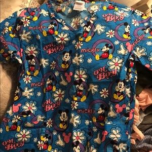Mickey scrub top